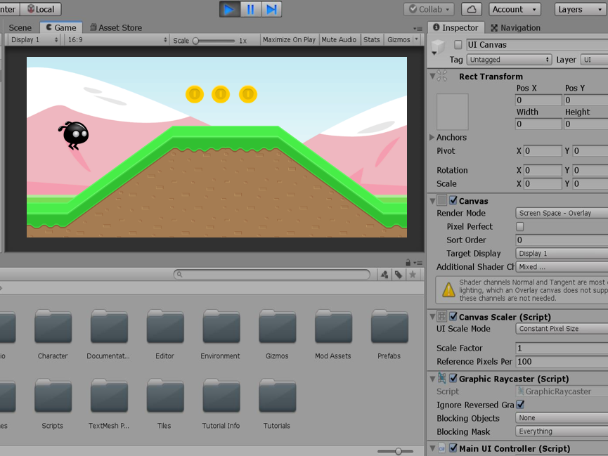 Game Design mit unity software